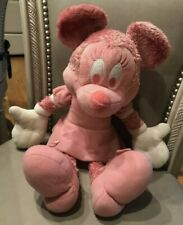 New listing Disney Store Minnie Mouse Plush Doll All Pink White Stuffed Animal Toy 16�