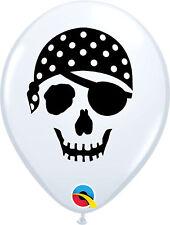 Qualatex 99779 Round Pirate Skull Latex Balloons White 5-inch