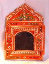 NEW FAIR TRADE HAND PAINTED WOODEN MIRROR FROM MOROCCO BERBER BOHO MOORISH