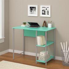 College Students Kids Mint Green Desk Table Basic Computer Modern Bookshelf Dorm