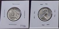 1980 Australian 10 Cents BU UNC Lyrebird Coin - Ex RAM Mint Roll - Gem (HE158)