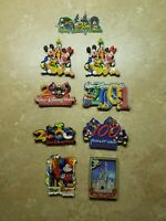 9 Walt Disney World Magic Kingdom Magnets 2001 2000 100 Years Mickey Mouse