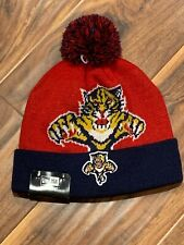 Florida Panthers New Era NHL Biggie Pom Knit Beanie-NWT-OS-team color