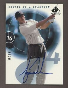 2002 SP Game Used Edition Golf Course Of A Champion Tiger Woods AUTO