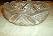 "Vintage Decorative Pressed Clear Glass Bowl -   7 1/4"" x 3"""