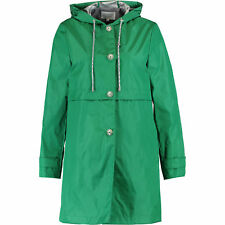 TRENCH & COAT Women's BLYCINE Green Buttoned Parka with Hood, size M / UK 10