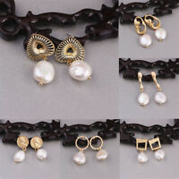 Fashion Women Earring Gold Alloy Pearl Pendant Dangle Drop Earrings Aurora
