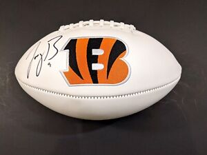 Joe Burrow Cincinnati Bengals Autographed Signed Logo Football COA