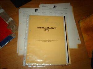 Thatcham Body Repair Manual Toyota Starlet  3 door 1985