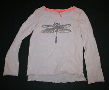 New Next UK Pink Sequin Dragonfly Design Top Shirt Tee Size 8 Year 128cm NWT