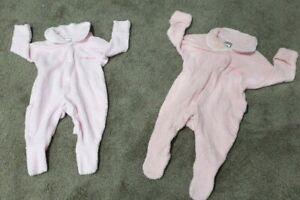 Bonds baby girl size 000 bundle x2  terry towelling wondersuits cozy cuff GUC