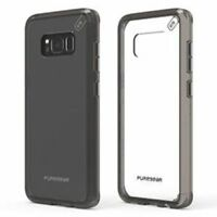 PureGear Slim Shell Pro Case for Samsung Galaxy S8+ – Clear / Light Grey - NEW