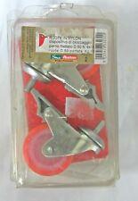 Ruote in Nylon c/perno Block ø 50 mm portata 30 kg Arancione 2 pz a conf. New
