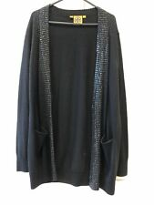Tory Burch Black Cardigan With Sequin Studs Size Large L