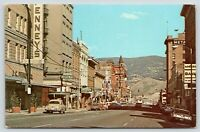Butte Montana~Park Street JC Penney's~Clark Hotel~Continental Divide~1950s Cars