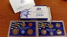 UNITED STATES MINT PROOF SET 2000 COIN SET W/ 5 STATE QUARTERS NEW IN PACKAGE