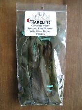 New listing Fly Tying - Hareline Complete Micro Stripped Pine Squirrel Hide - Olive Brown