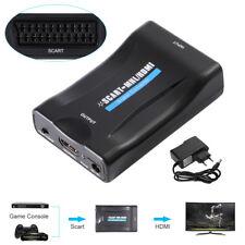 Scart auf HDMI Konverter Analog Digital Adapter 1080p Wandler HD USB Kabel AH086