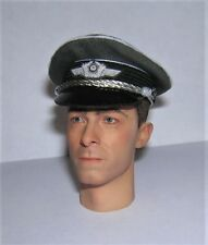 Banjoman 1:6 Scale Custom WW2 German Grey Luftwaffe Officer's Cap