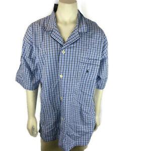 Polo Ralph Lauren Sleepwear Pajama Shirt XL Blue Check $40