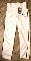 Under Armour NWT Boys Baseball Pants White/Black, Youth Medium