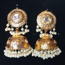 Pakistani Gold Bollywood Jhumka Earings Jewellery, Indian Wedding Jhumki Jewelry