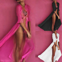 Women Bikini Cover Up Swim Wear Beach Maxi Wrap Skirt Sarong Kimono Kaftan Dress