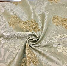 "SAMUEL SIMPSON ""MALHAM FLORAL"" LUXURIOUS PALE GREEN CHENILLE FABRIC 3 METRES.."