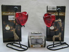 Ancient Wisdom Heart Glass Candle & Tea Light Holders