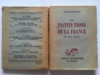 1948 E.0 LES INSTITUTIONS DE LA FRANCE XVI°s ZELLER HISTOIRE POUVOIRS LIVRE BOOK