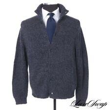 Polo Ralph Lauren Navy Grey Mixed Cashmere Blend Chunky Pub Jacket Cardigan XL