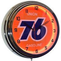 "Pennzoil Safe Lubrication 19/"" Yellow Neon Clock Man Cave Garage Oil Change Shop"