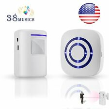 Wireless Door Bell Outdoor Security Alert Sensor Detector Driveway Motion Alarm