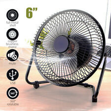 """INSMA 360 Rotatable 6"""" USB Rechargeable Fan Desk Cooler Air for PC Laptop Table"""