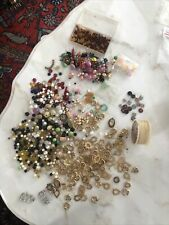 Huge lot of vintage beads, jewelry making items and string