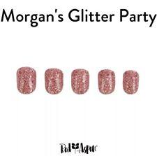 Red Aspen Nails- short- square- Morgan's glitter party