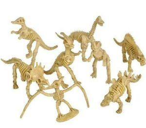 "3.5"" SKELETON DINOSAURS 12 Assorted Fossils Figures"