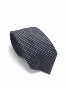 $155 Vince Camuto Men Suit Skinny Necktie Black White Polka Dot Neck Tie 60x3