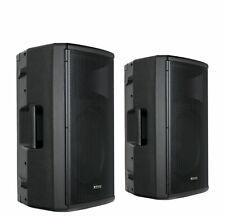 "2x DJ PA 12"" Aktiv Lautsprecher Set Box Bluetooth Monitor Bi-Amping Stereo 500W"