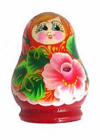 Magnet Matriochka Poupée russe avec  fleur Aimant pour Réfrigérateur