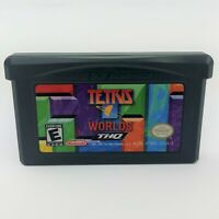 Tetris Worlds Nintendo Gameboy ADVANCE GBA Tested AUTHENTIC