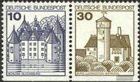 BRD (BR.Deutschland) W64II Letterset postfrisch 1990 Burgen und Schlösser