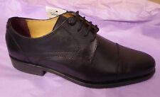 Marks & Spencer Sammlung Luxus UK6.5 EU40 US8.5 NEU Schwarz Leder Geschnürt Schuhe