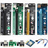 USB 3.0 Pcie PCI-E Express 1x-16x Extender Riser Card Adapter Power BTC Cable