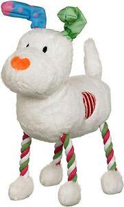 GoodBoy The Snowman Snowdog Hug Tug - White 10152 - Christmas Dog Toy Gift Xmas