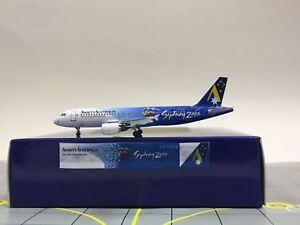 """Aeroclassics 1:400 Ansett Airbus A320-200 VH-HYB /""""Sydney Olympics/"""" ACVHHYB"""
