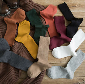 Ladies Womens Thin Casual Plain Coloured Cotton Rich Ankle Dress Socks Fashion