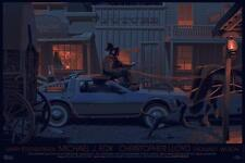 MONDO Back to the Future Part III 3 Three print poster by Laurent Durieux