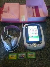 Leap Frog LeapPad Pink 32400 with 3 games & Case & Headphones &Charger