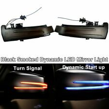 LED Amber Blue Sequential Smoked Side Mirror Signal Light For 15-19 X156 GLA